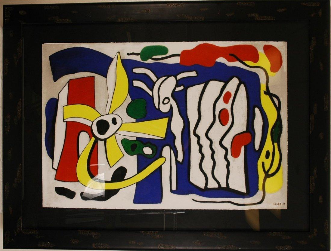 """1: Fernando Leger """"Composition Aux Trois Profils 1937"""""""