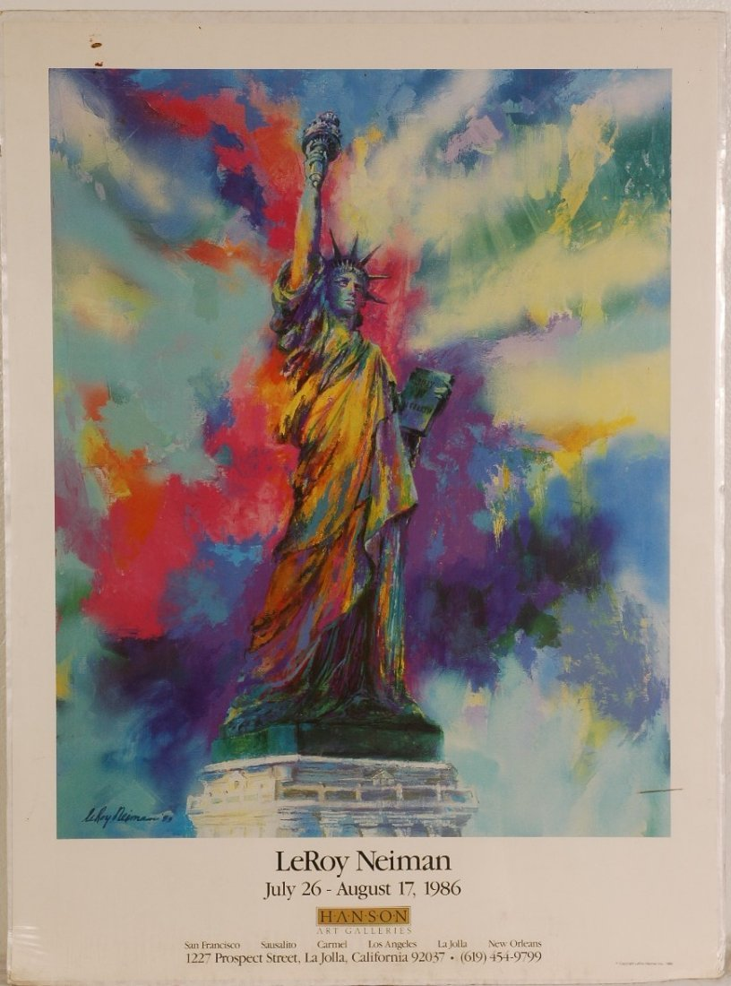 "7: Leroy Neiman ""Statue of Liberty"" 23"" x 31"""