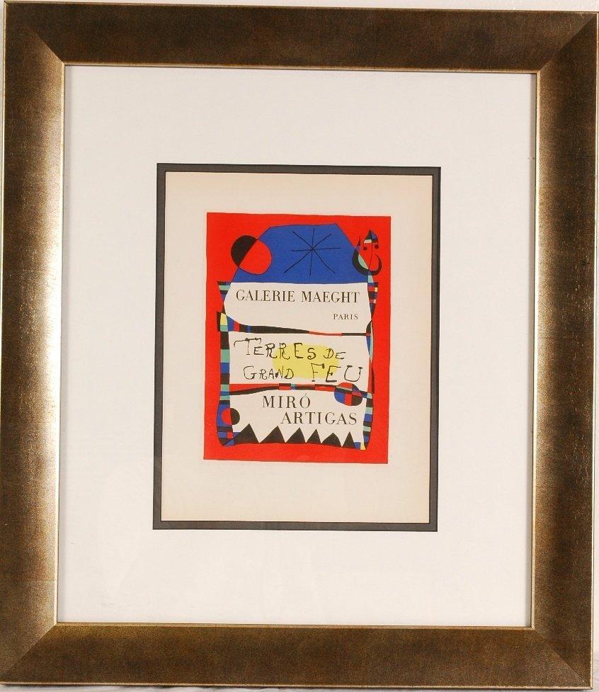 """10: Joan Miro """"Terres De Grand Feu"""""""