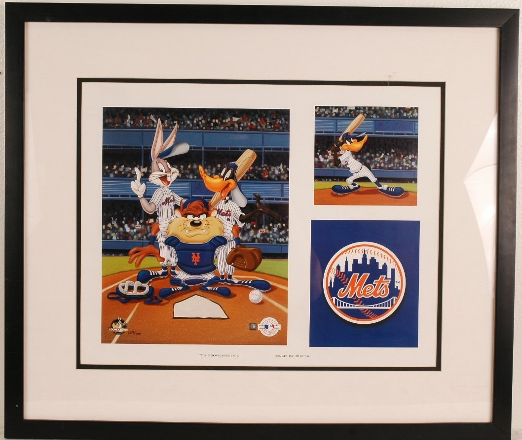 """23: Looney Tunes """"NY Mets"""" Lithograph"""