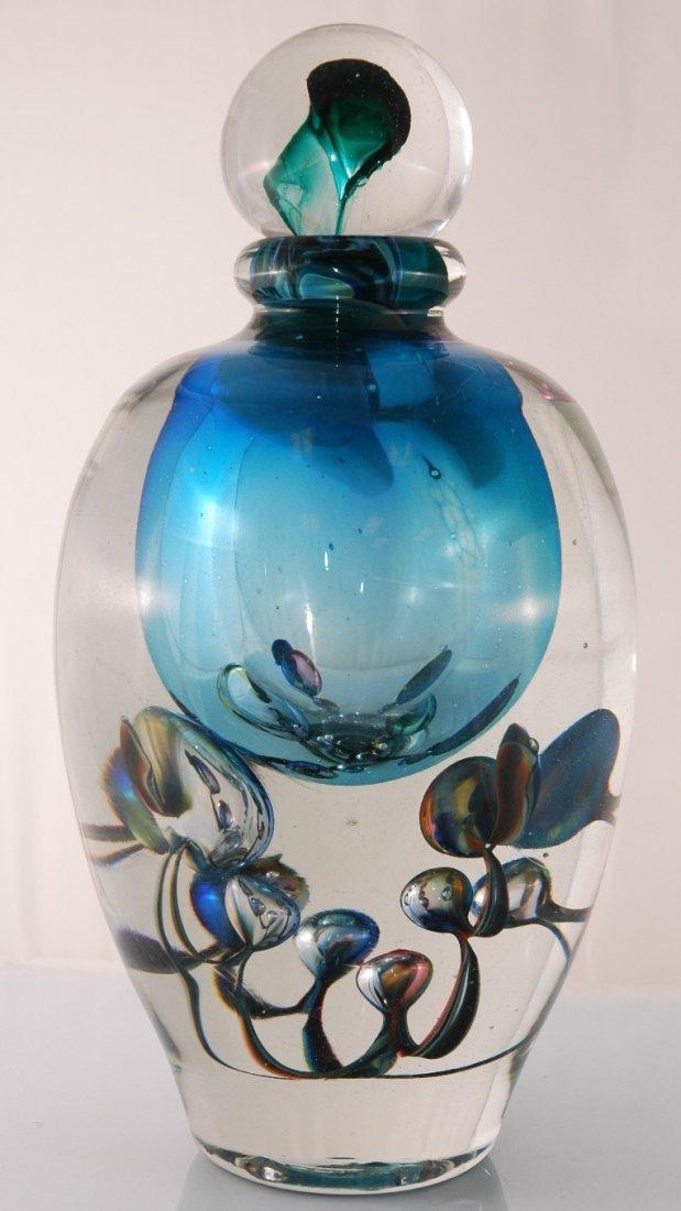 "8: Large Jean-Claude Novaro ""Bubble Vase Blue"" Hand Mad"