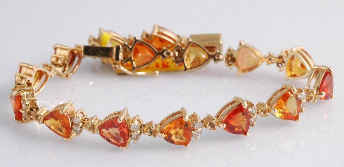 13: 14.82ct Sapphire and Diamond Bracelet