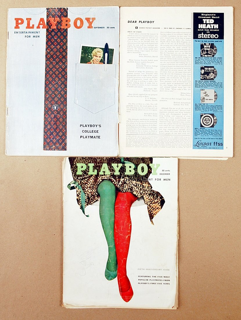 14: Vintage 1958 Playboy magazine collection- Lot of 2