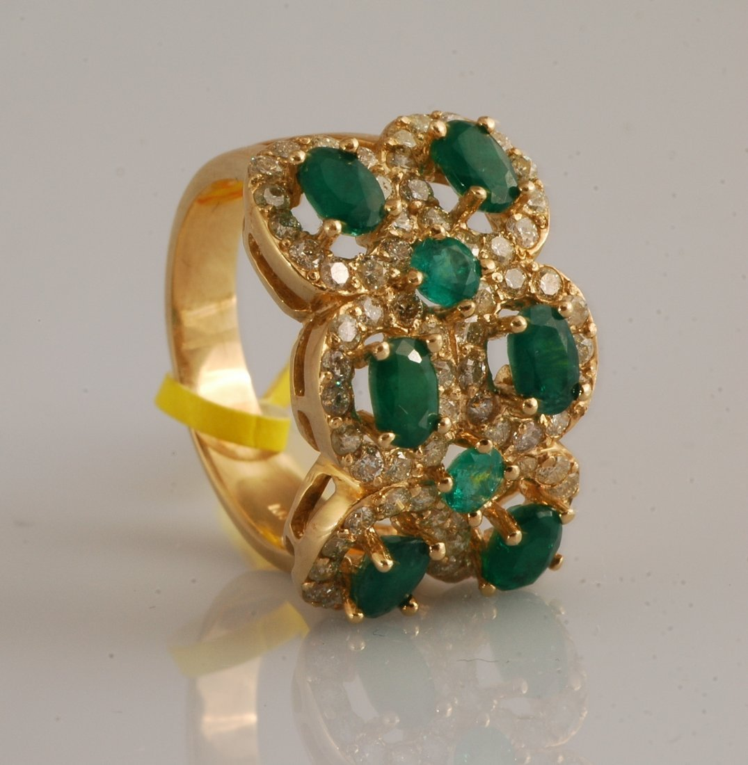 15: 5.74ct Emerald and Diamond Ring