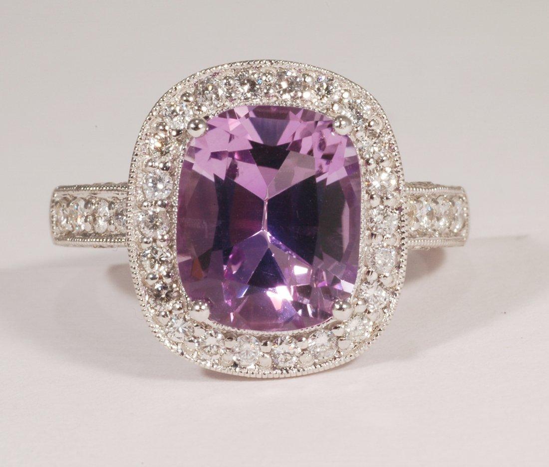 4: 3.72 Amethyst and Diamond Ring
