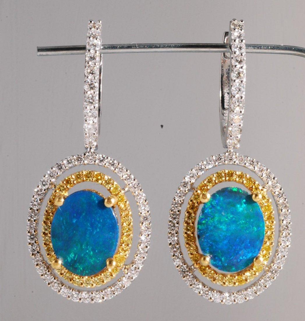 6: 1.32ct Opal and Diamond Earrings