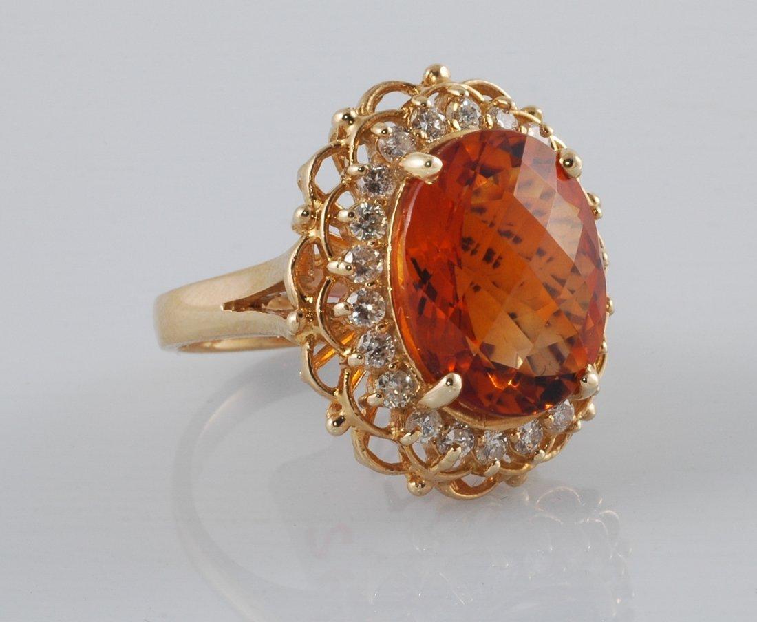 7: 8.45ct Citrine & Diamond Ring