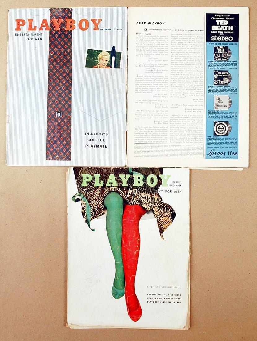 14: Vintage 1956 - 1958 Playboy magazine collection- Lo