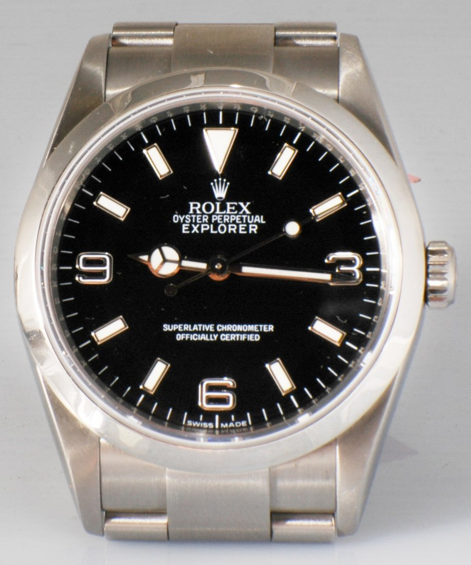 82: Rolex Oyster Perpetual Explorer SS Watch