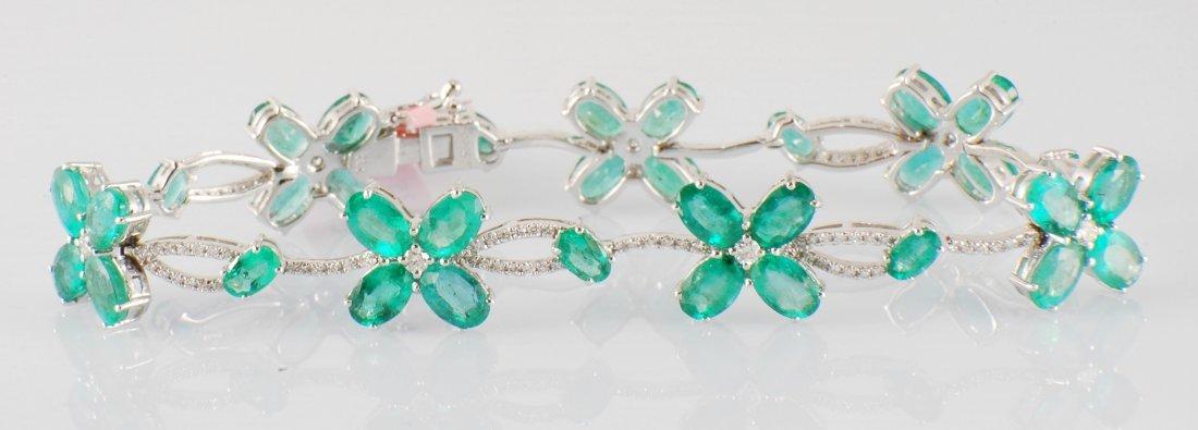 2: 13.48ct Emerald and Diamond Bracelet