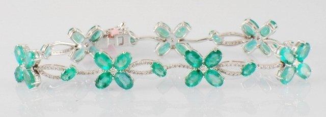 13.48ct Emerald and Diamond Bracelet