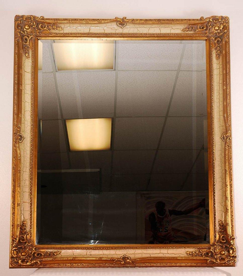"Vintage Style Crackle Mirror 56"" x 49"""