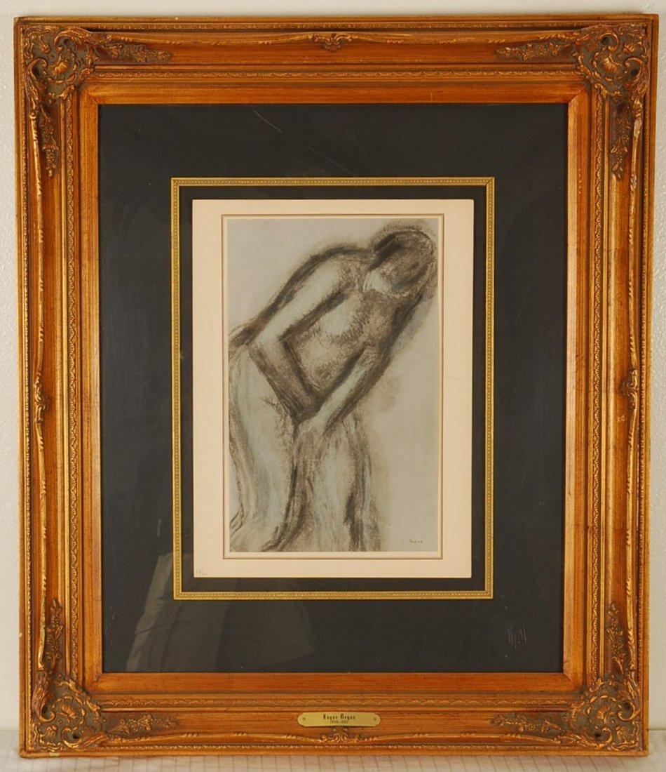 """Edgar Degas """"La Femme Surprise"""" 1957 Lithograph"""