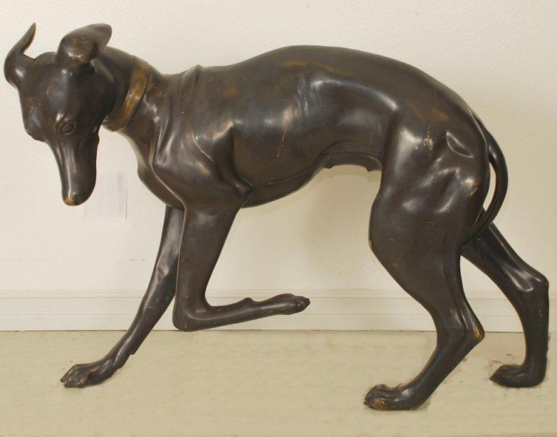 Monumental Bronze Statue Greyhound Dog