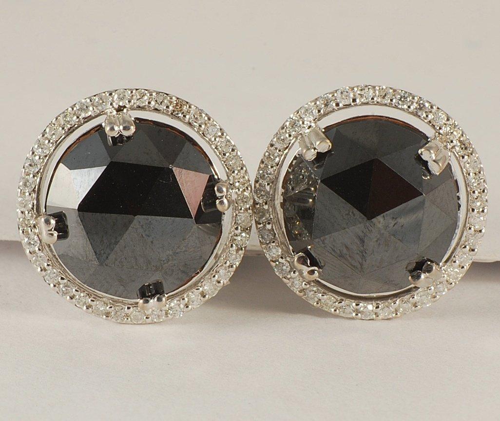 7.61ct Diamond Earrings set in White gold