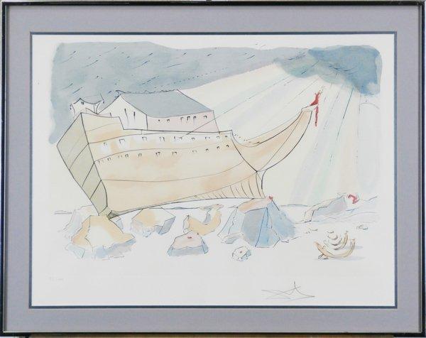 "Salvador Dali ""Noah's Arc"" Signed in Pencil"
