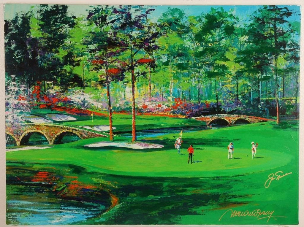 Giclee on Canvas Hand Signed by Jack Nicklaus and Malcu