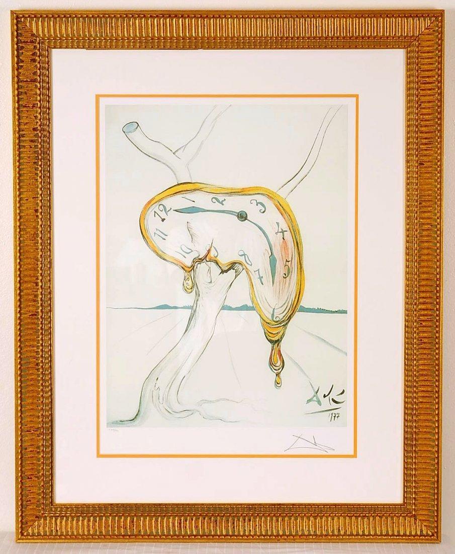 "Salvador Dali's ""Melting Clock"" Limited Edition Offset"