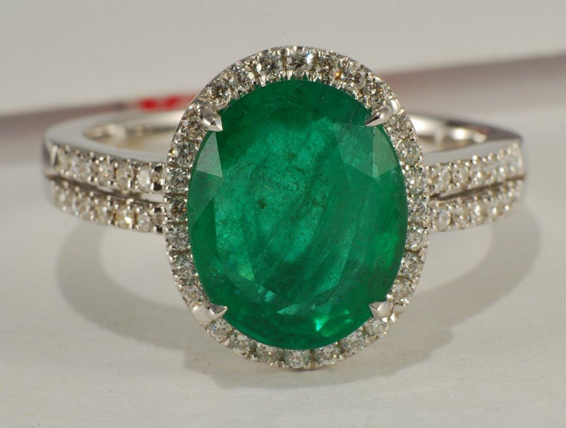 4.81 ctw Emerald & Diamond Ring