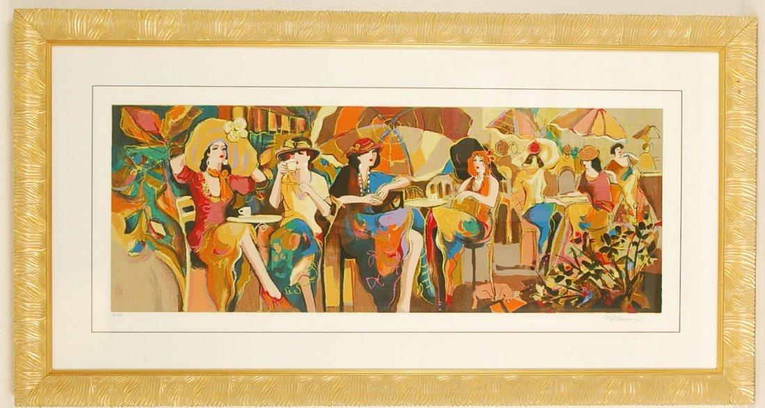 "Isaac Maimon ""Cafe Panorama"" Hand Signed"