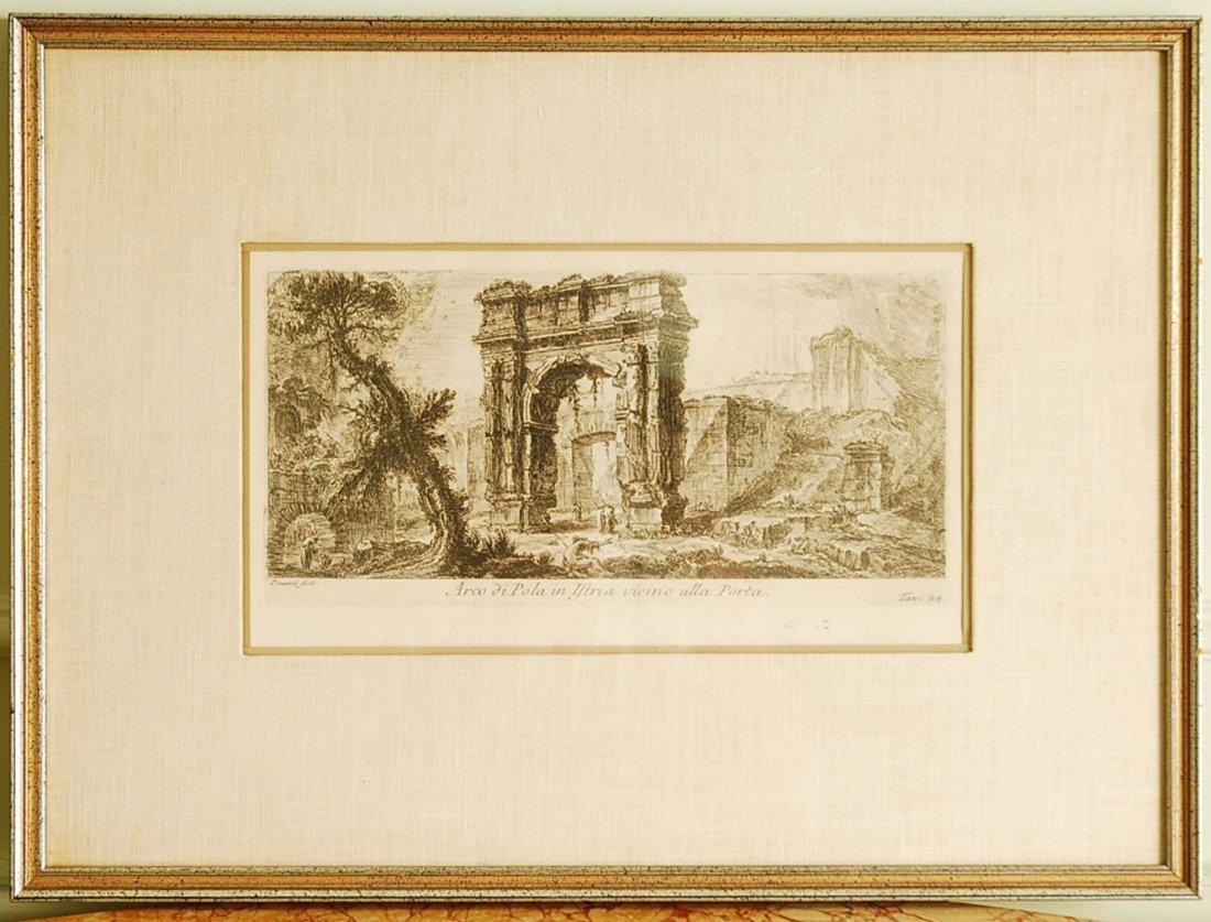 Antique Original Etching by Giovanni Battista Piranesi