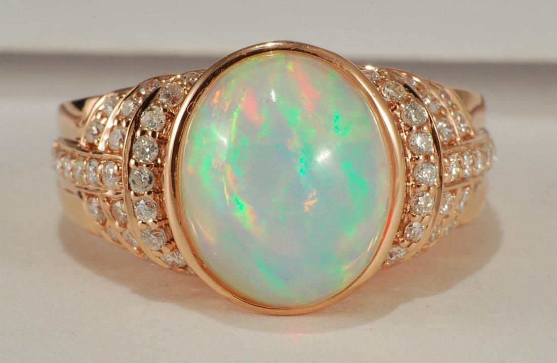3.15 ct Opal & 0.42ct Diamond Ring