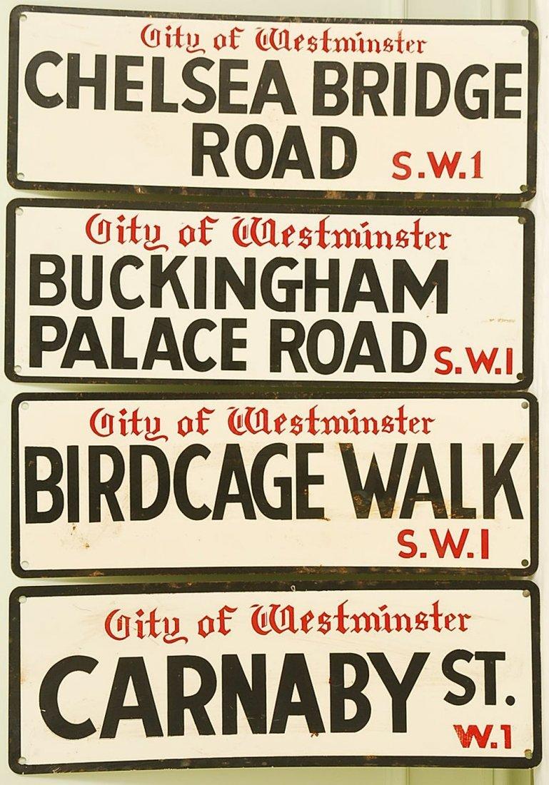 Vintage English Street Signs, set of 4