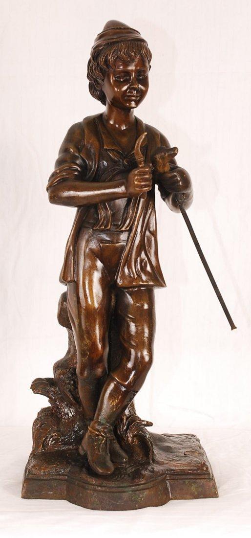 Bronze Sculpture of Standing Boy