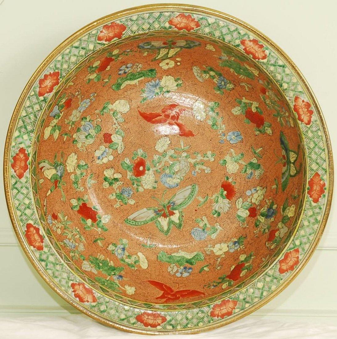 """Early 1900's Macau Porcelain Bowl 16""""D"""
