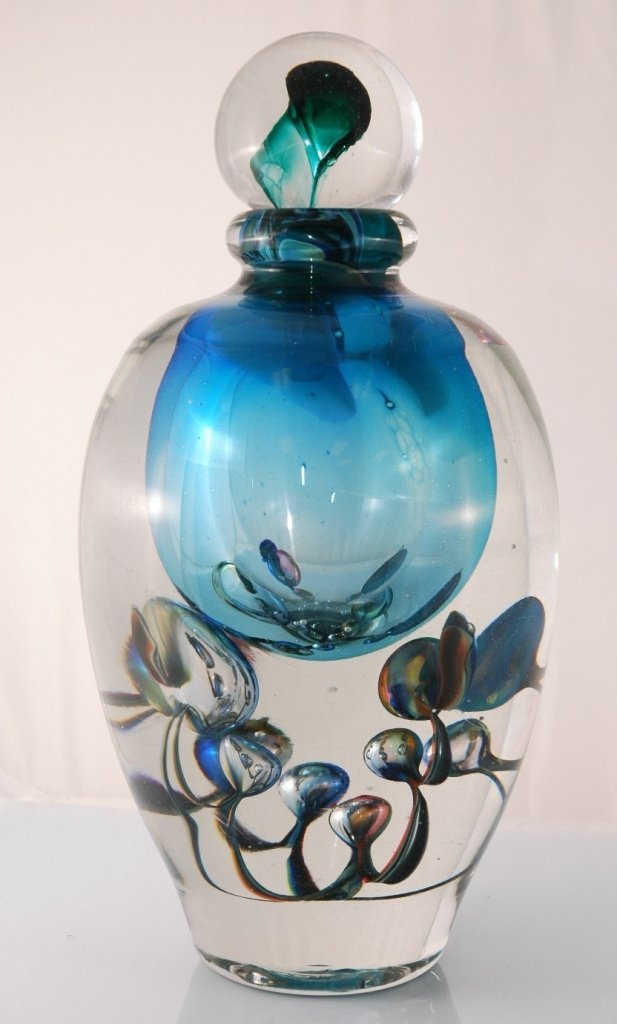 "Large Jean-Claude Novaro ""Bubble Vase Blue"" Hand Made G"