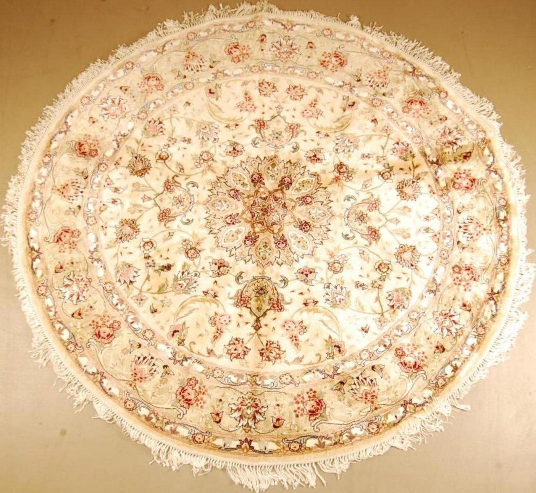 6' x 6' Oriental Tabriz Round Hand Made Rug