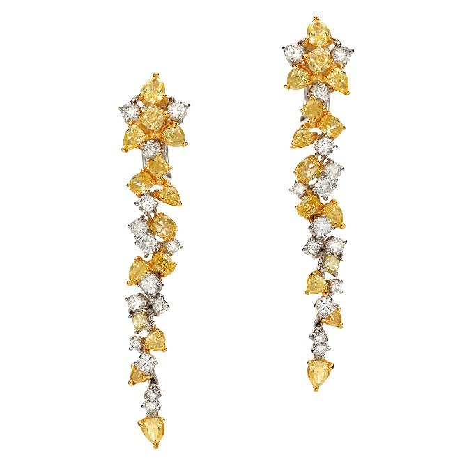 18K 5.25ct Diamond Earring