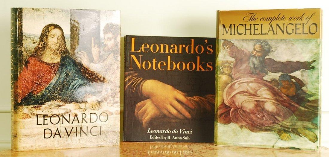 Set of 3 Vintage Books of Leonardo da Vinci and Michela