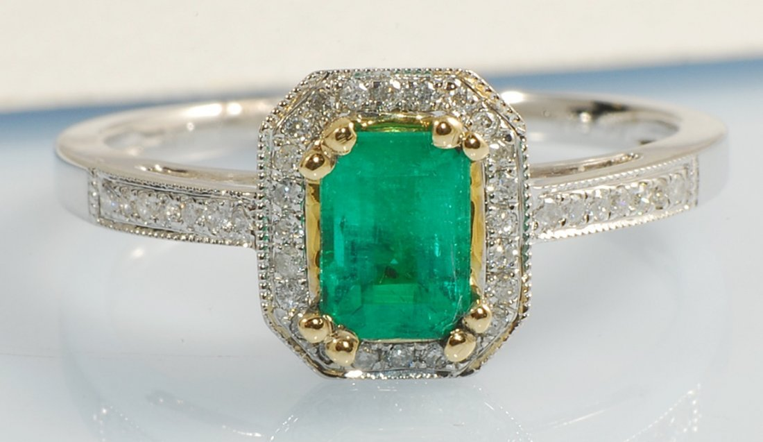 1.60ct Emerald and Diamond Ring