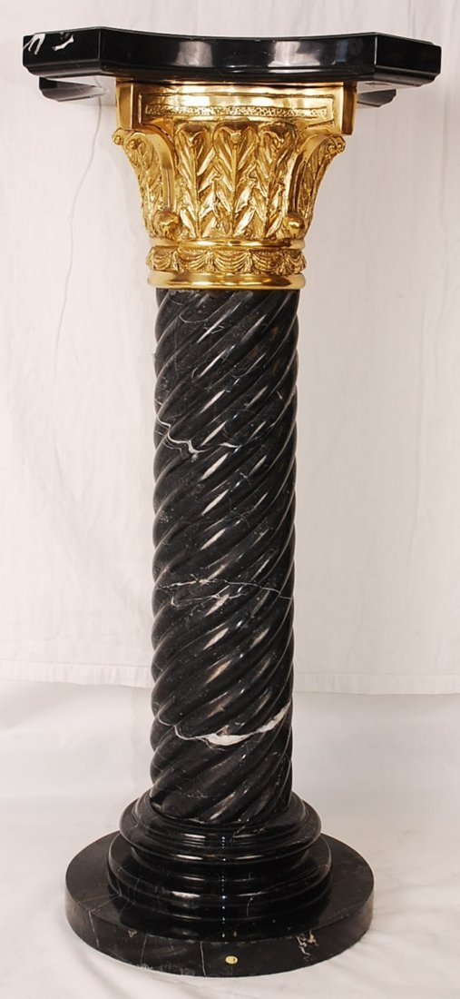 "Twisted Marble Pedestal 37.5"" Tall"