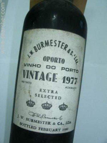 1977 Bottle of Burmester Vintage Red Port, Portugal