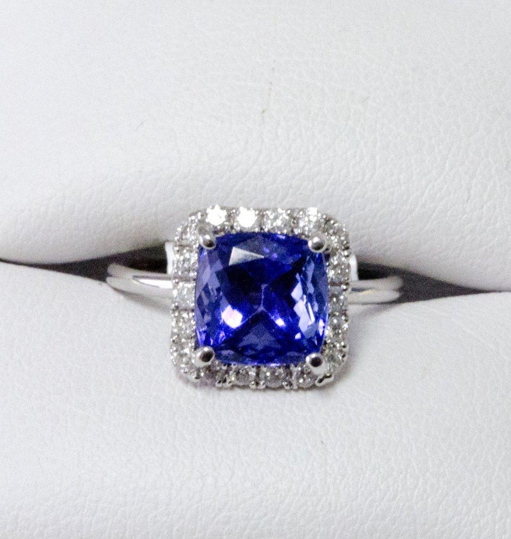 4.37 ctw Tanzanite &  Diamond Ring