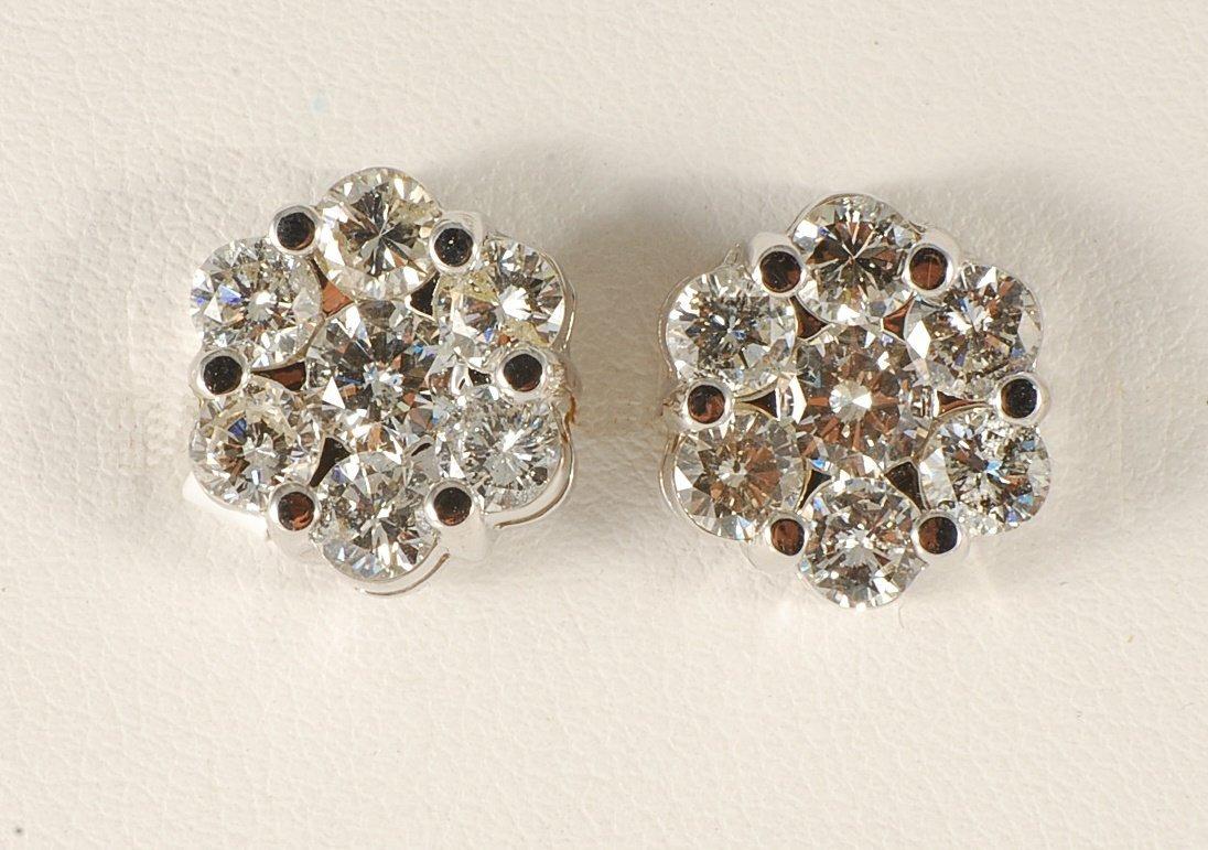 2.94 ct Diamond Earrings