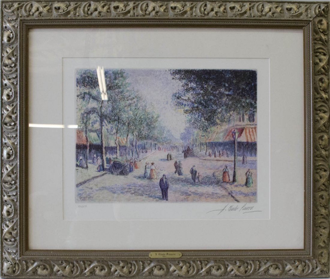 "H. Claude Pissarro ""Paris, Boulevard d' Orleans (1992),"