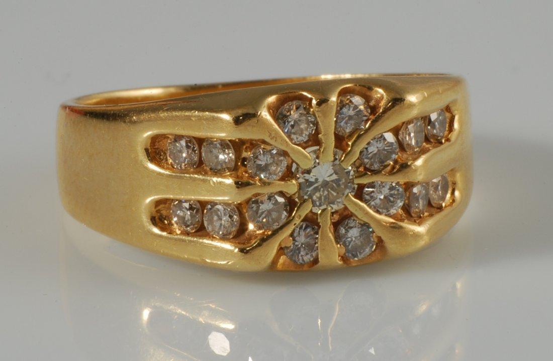 1.5 ct Diamond in 14K Yellow Gold Ring