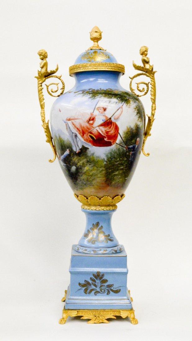 "Fine Porcelain European Bronze Vase 39""Tall"