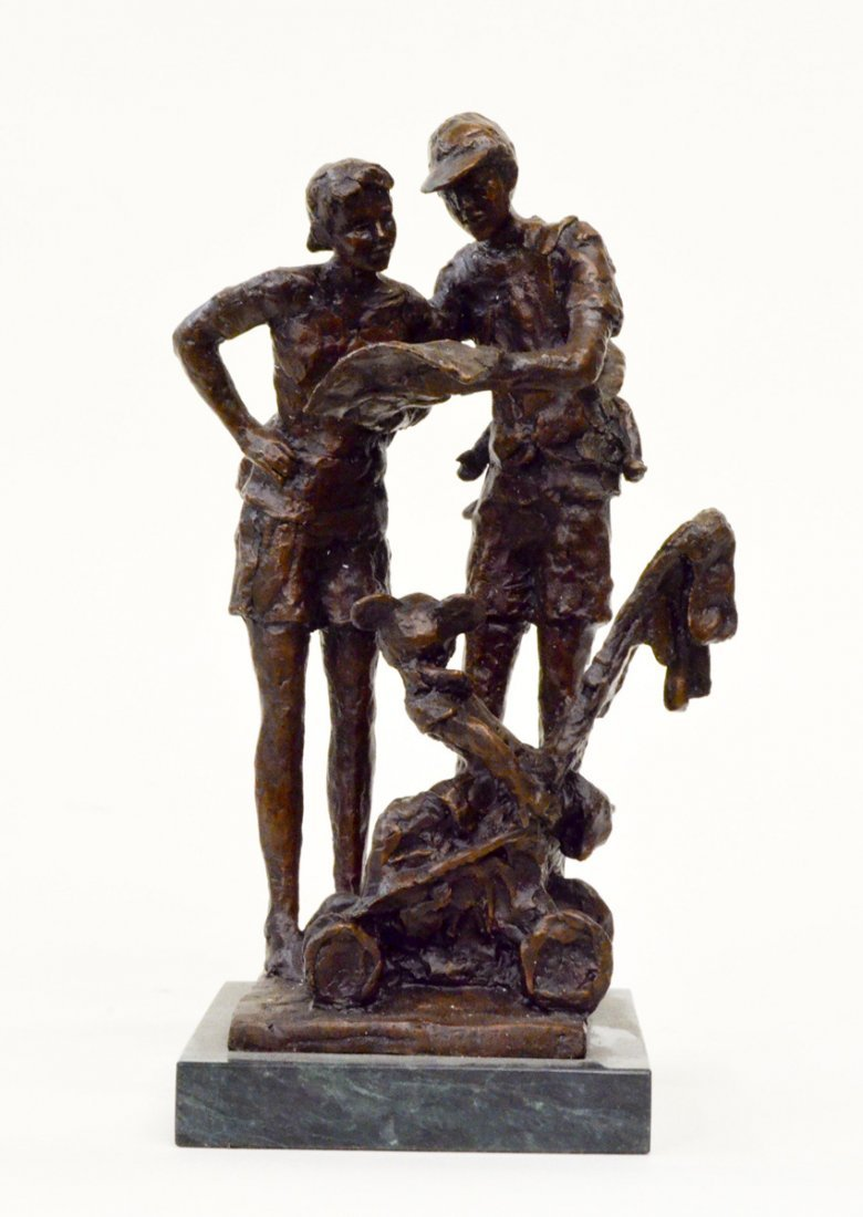 """""""Lost in Fantasyland"""" by Dennis Smith Signed Bronze"""
