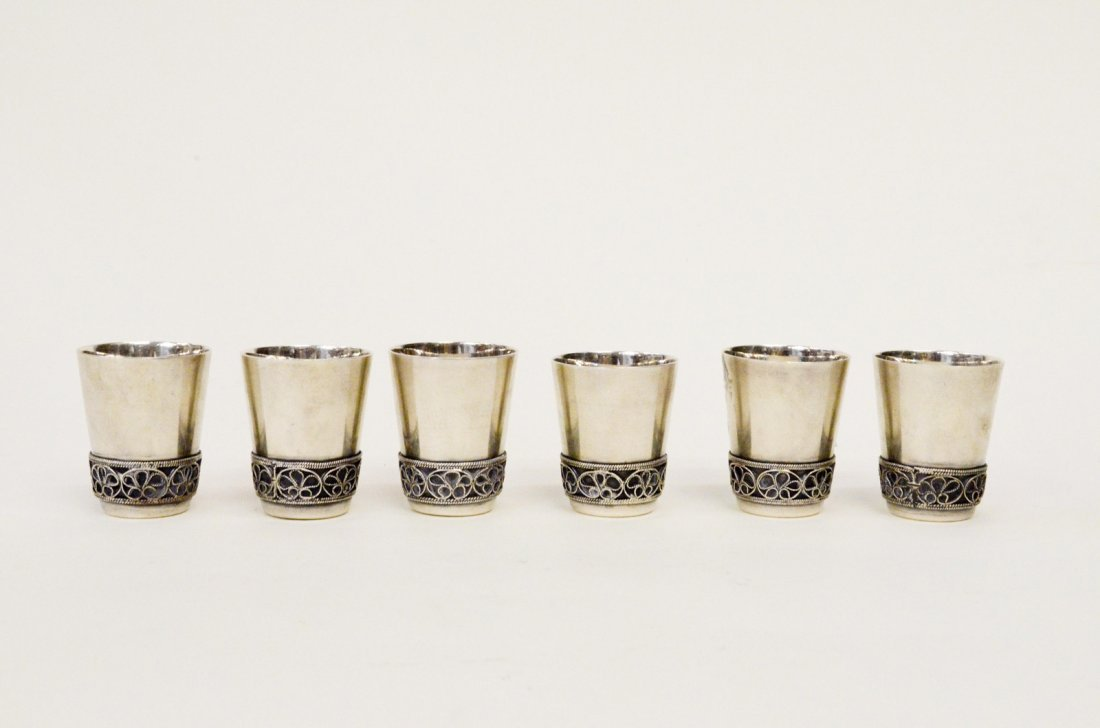 1930's Russian Sterling Silver Shot Cups