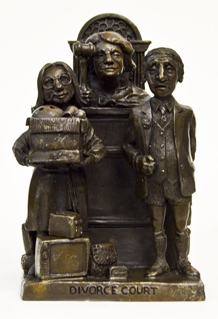 """Divorce Court"" By Charles Bragg Signed Bronze"