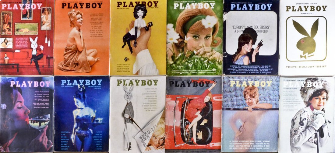 Vintage 1963 Playboy Magazine Collection- Lot Of 12