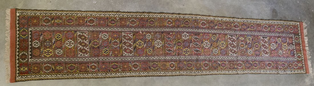 "Kim Sumak Tribal Runner Rug 12' 5"" x 2' 6"""