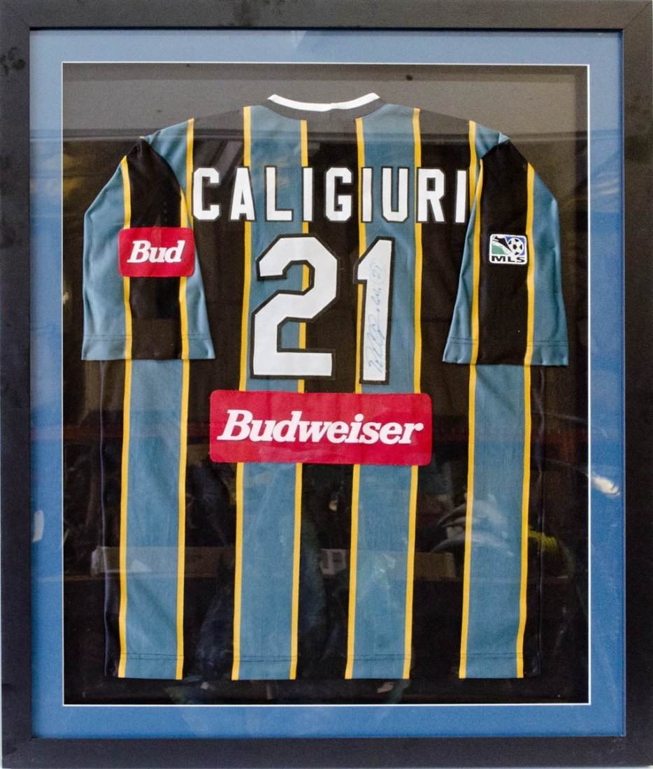 "LA Galaxy ""Caligiuri"" Signed Framed Jersey"