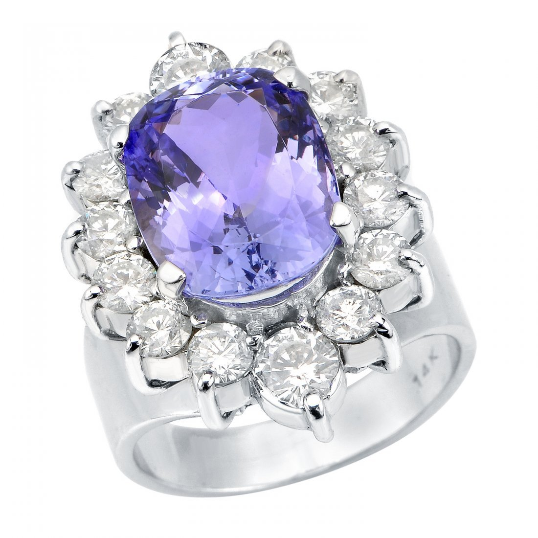 9.33 ct Tanzanite and Diamond Ring