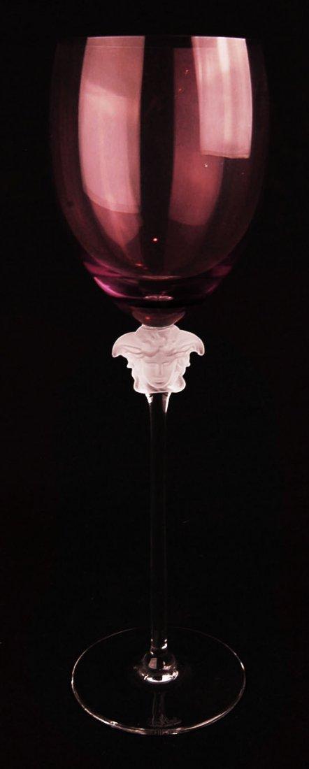 Pair Versace Medudsa Lumiere Water Goblets