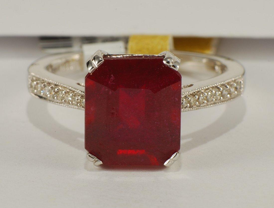 4.71 ctw Ruby & Diamond Ring